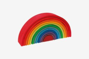 Aoile Wooden Nesting Rainbow Blocks
