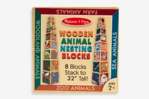 Melissa & Doug Wooden Animal Nesting Blocks