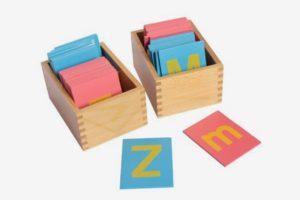 Montessori Lower and Capital Case Sandpaper Letters
