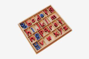 Montessori Small Wooden Movable Alphabet